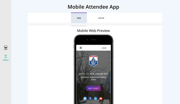 Mobile event management software