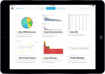 Zoho Reports is a cloud based business intelligence software