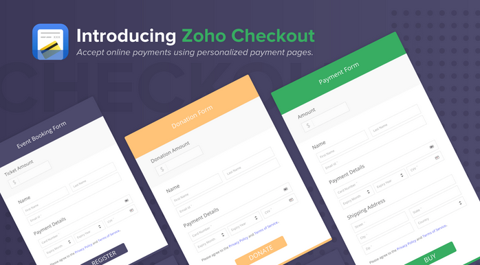 Zoho Checkout is an online payment app for small businesses