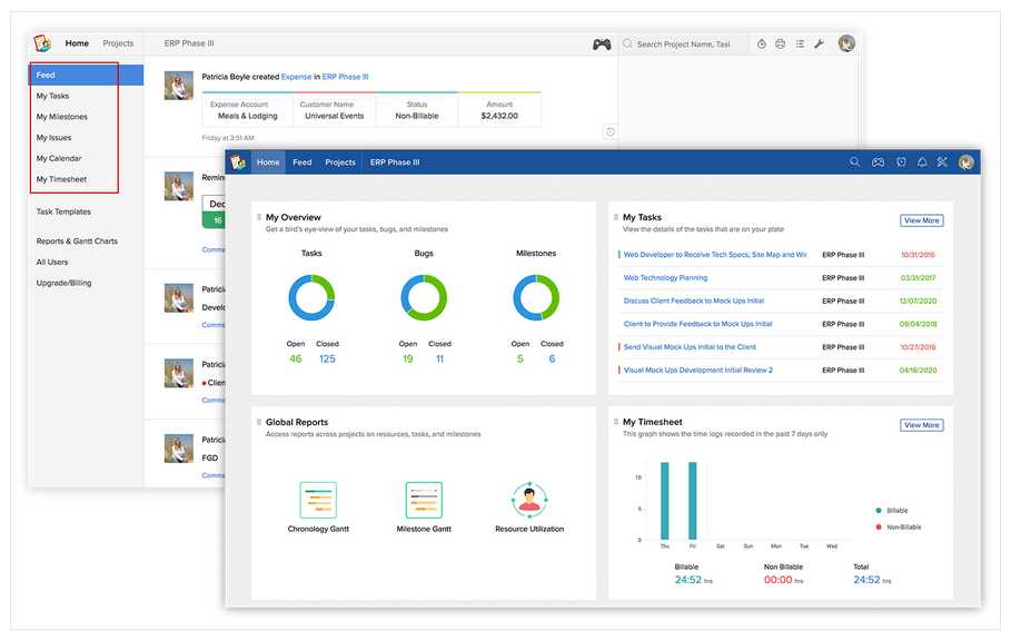 Zoho Projects project management software for small businesses