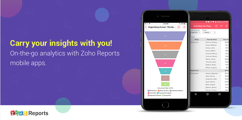 Zoho Reports mobile app