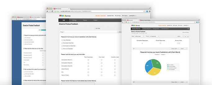 Zoho Survey online survey software allows business to gather the right information
